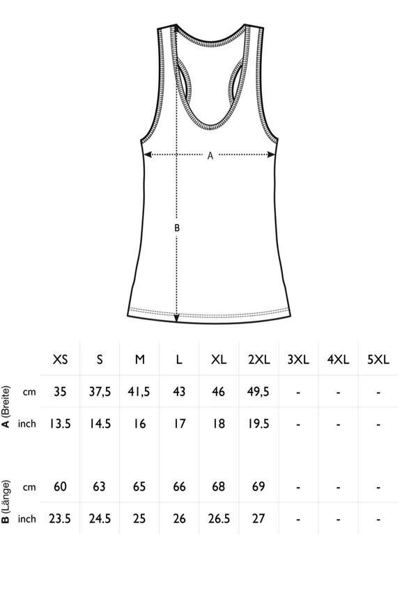 Größentabelle Damen Basic Tank Top