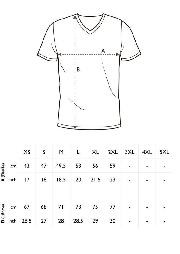 123ce69bd4fa22 Herren T-Shirt V-Ausschnitt Meliert Comfort Bügelfrei