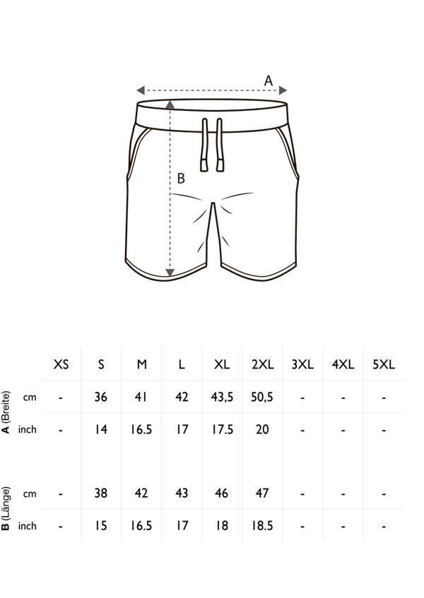 Größentabelle Herren Shorts Combat